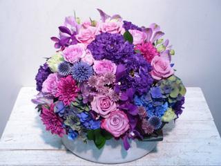 紫・濃いピンク系 アレンジメント